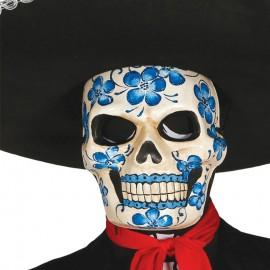 Careta Esqueleto Azul