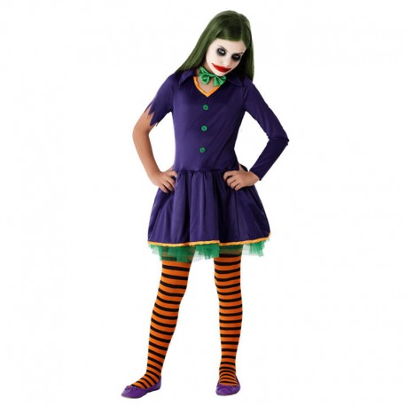 Disfraz de Payasa Villana infantil
