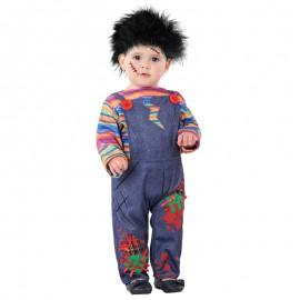 Disfraz de Muñeco Diabólico sangriento para bebé