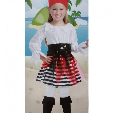 Disfraz de Pirata de niña