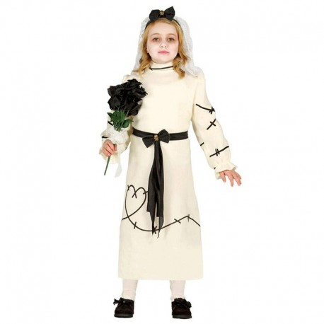 Disfraz de Novia Franky de niña