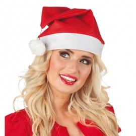 Gorro de Papa Noel liso para adulto