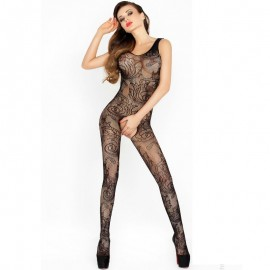 PASSION WOMAN BS020 BODYSTOCKING NEGRO TALLA UNICA