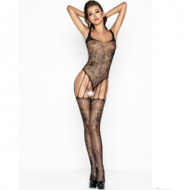 PASSION WOMAN BS034 BODYSTOCKING NEGRO TALLA UNICA