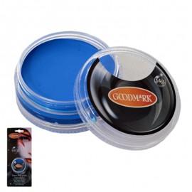 Maquillaje al agua en crema de color azul