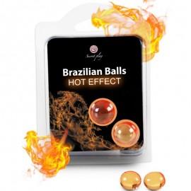 SECRETPLAY BRAZILIAN BALLS EFECTO CALOR 2 UNIDADES