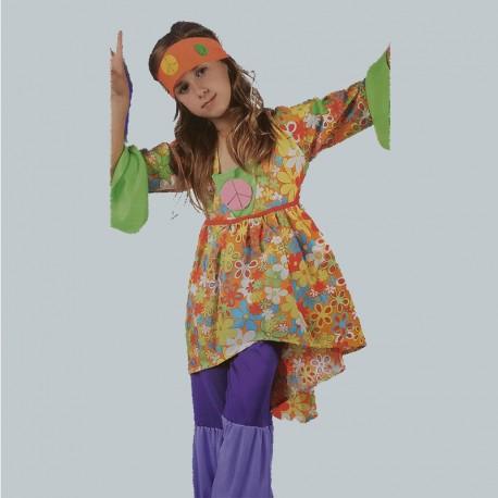 Disfraz Infantil de Chica Hippie