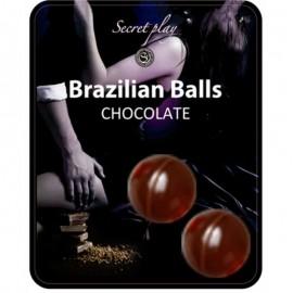 SECRETPLAY BRAZILIAN BALLS  CHOCOLATE SET 2 BOLAS