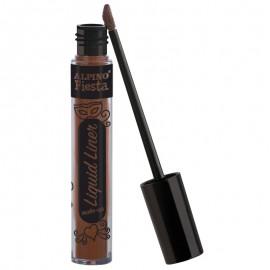 Maquillaje liquido al agua con aplicador, de color marrón