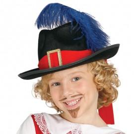 Sombrero de mosquetero infantil