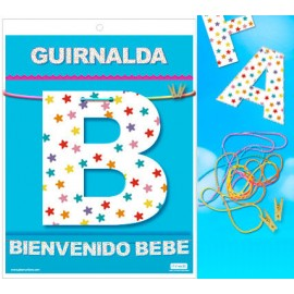 GUIRNALDA BIENVENIDO BEBE (Cartulina 220gr)
