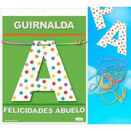 GUIRNALDA FELICIDADES ABUELO (Cartulina 220gr)