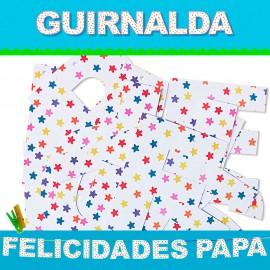 GUIRNALDA FELICIDADES PAPA (Cartulina 220gr)