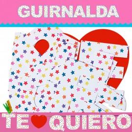 GUIRNALDA TE QUIERO (Cartulina 220gr)