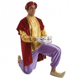 Disfraz de paje Gaspar para hombre