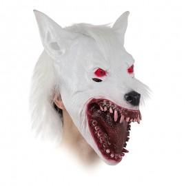Máscara de lobo, plateada