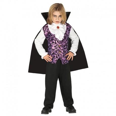 Disfraz de Vampiro lila, para niño