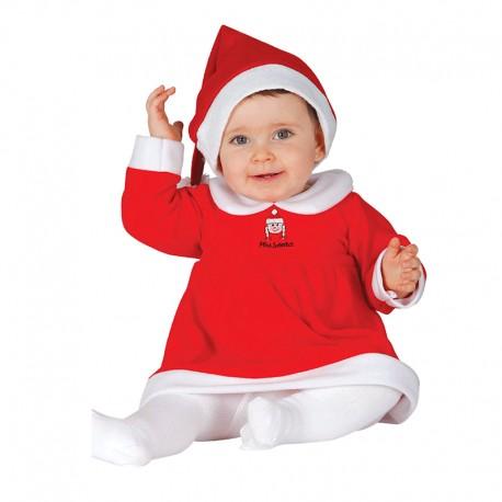 Disfraz  de Mama Noel de bebe