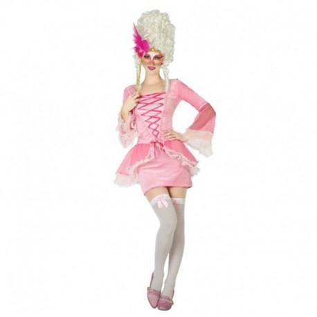 Disfraz de Cortesana rosa para mujer