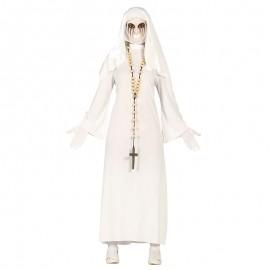 Disfraz de Monja blanca para adulta