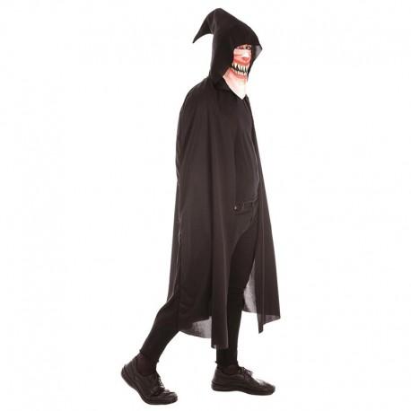 Disfraz Capa de miedo con pañuelo para adulto