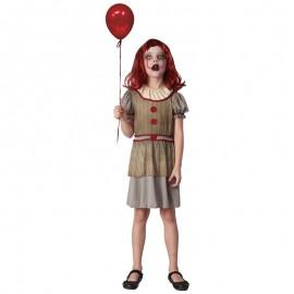 Disfraz de Payasa terrorífica para niña