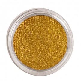 Maquillaje al agua en color dorado
