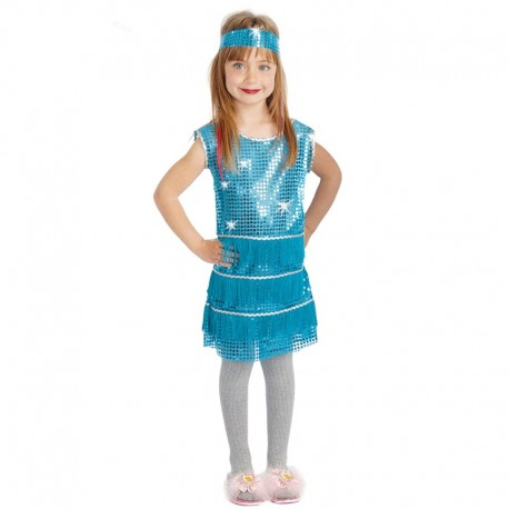 Disfraz Charleston Azul Niña