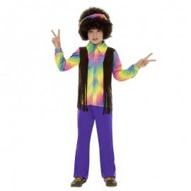 Disfraz de Hippie Disco para niño