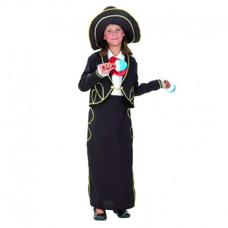 Disfraz Infantil de  Mexicana Mariachi