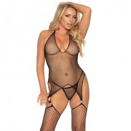 LEG AVENUE BODYSTOCKING CON ANILLAS TALLA UNICA