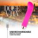 DOLCE VITA VIBRADOR RECARGABLE TWO ROSA 10 VELOCIDADES