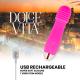DOLCE VITA VIBRADOR RECARGABLE THREE ROSA 10 VELOCIDADES