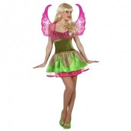 Disfraz de Hada Rosa y Verde para mujer