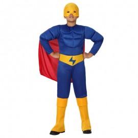 Disfraz de Superhéroe Azul para niño