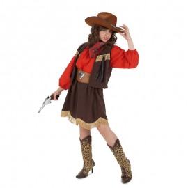 Disfraz de Vaquera Roja para niña